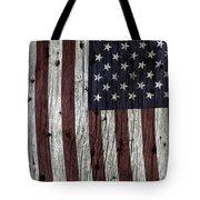 Grungy Textured Usa Flag Tote Bag