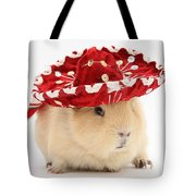 Guinea Pig Wearing A Hat Tote Bag