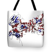 Heat Shock Protein 90 In A Larger Tote Bag by Ted Kinsman