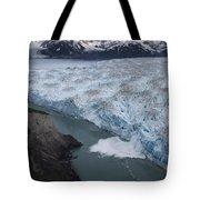Hubbard Glacier Encroaching On Gilbert Point Tote Bag