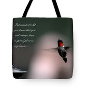 Hummingbird Card Tote Bag
