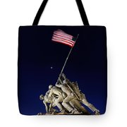 Iwo Jima Memorial At Dusk Tote Bag