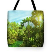 Lake In Deep Forest Tote Bag