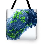 Lymphocyte With Hiv Cluster Tote Bag