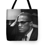 Malcolm X (1925-1965) Tote Bag