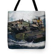 Marines Navigate An Amphibious Assault Tote Bag