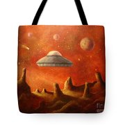 Mysterious Planet Tote Bag