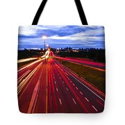Night Traffic Tote Bag