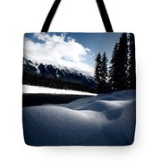 Open Water In Winter Tote Bag
