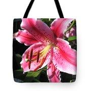 Oriental Lily Named Tiber Tote Bag