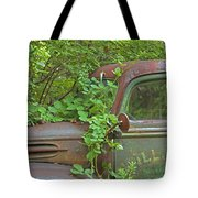 Overgrown Rusty Ford Pickup Truck Tote Bag