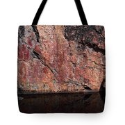 Painted Rocks At Hossa With Stone Age Paintings Tote Bag