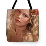 Portrait Of A Beautiful Young Woman Tote Bag
