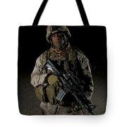 Portrait Of A U.s. Marine Tote Bag