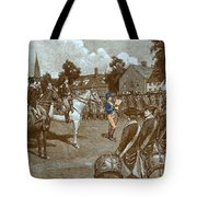 Reading The Declaration Of Independence Tote Bag by Photo Researchers