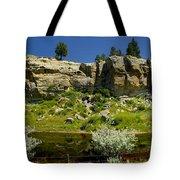 Reflecting Cliffs Tote Bag