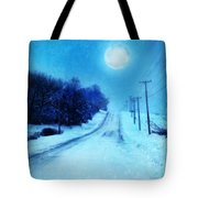 Rural Road In Winter Tote Bag