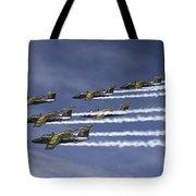 Saab 105 Jet Trainers Of The Swedish Tote Bag