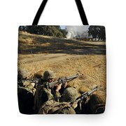 Seabees Defend Their Camp Tote Bag