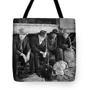 Silent Film Still: Trains Tote Bag