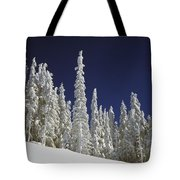 Snow-covered Pine Trees Tote Bag by Natural Selection Craig Tuttle