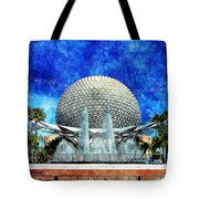 Spaceship Earth And Fountain Of Nations Tote Bag
