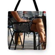 Stripped Dress Tote Bag