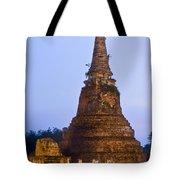 Stupa Chedi Of A Wat In Ayutthaya Thailand Tote Bag