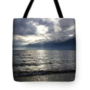 Sunlight Over A Lake Tote Bag