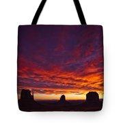Sunrise Over Monument Valley, Arizona Tote Bag