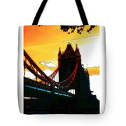 Sunset At Tower Brigde Tote Bag
