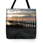 Sunset Cape Charles Virginia Tote Bag