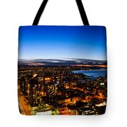 Sunset Over A City Nice Illuminated Tote Bag