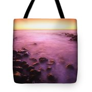 Sunset Over Water, Hawaii, Usa Tote Bag