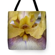 Tall Bearded Iris Named Butterfingers Tote Bag