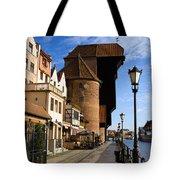 The Crane In Gdansk Tote Bag