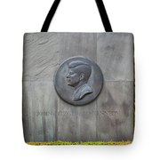 The John F. Kennedy Memorial At Veterans Memorial Park In Hyanni Tote Bag