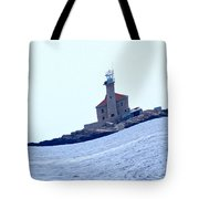 The Lighthouse Close To Primosten Tote Bag