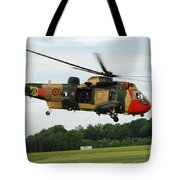 The Sea King Helicopter Of The Belgian Tote Bag