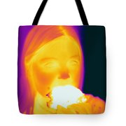 Thermogram Of A Girl Tote Bag