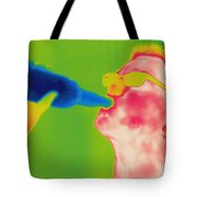 Thermogram Of A Man Drinking Tote Bag