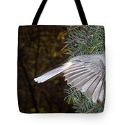 Tufted Titmouse In Flight Tote Bag