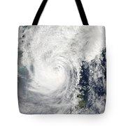 Typhoon Megi Tote Bag