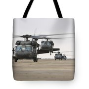 Uh-60 Black Hawks Taxis Tote Bag