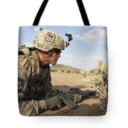 U.s Army Specialist Provides Security Tote Bag