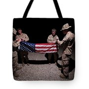 U.s. Marines Fold The American Flag Tote Bag