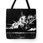 Uss Shaw, Pearl Harbor, December 7, 1941 Tote Bag