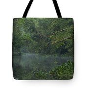 View Of The Menangul River And Rain Tote Bag