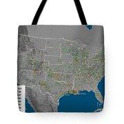 Vulcan Co2 Maps Tote Bag