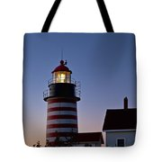 West Quoddy Head Lighthouse Tote Bag by John Greim